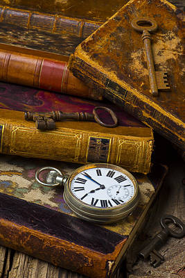 Keys Photograph - Love Old Books by Garry Gay