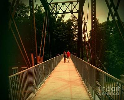 Photograph - Love On A Bridge by Sherri Williams