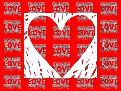 Digital Art - Love On Love by Helena Tiainen