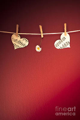 Clothesline Photograph - Love On The Line by Jan Bickerton