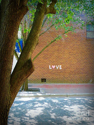 Love On The Wall Art Print by Lorraine Heath
