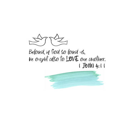 Bible Verse Painting - Love One Another II by Pamela J. Wingard