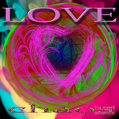 Digital Art - Love Over Chaos by Clayton Bruster