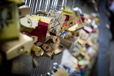 Photograph - Love Padlock Paris by Scott Lyons
