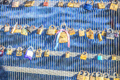 Digital Art - Love Padlocks by Liz Leyden