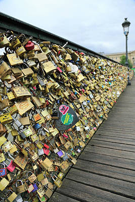 Photograph - Love Padlocks On Pont Des Arts Bridge by Bruce Yuanyue Bi