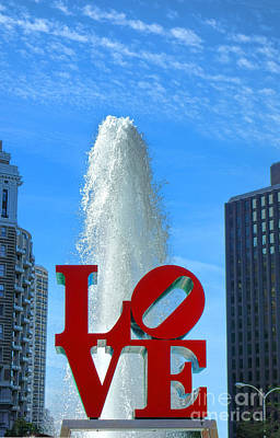 Phillies Photograph - Love Park by Olivier Le Queinec