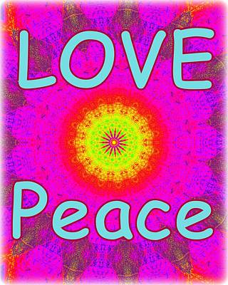 Photograph - Love Peace 1 by Sheri McLeroy