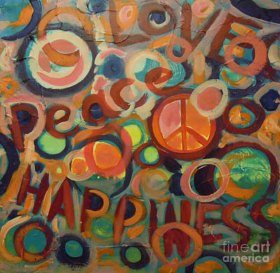 Love Peace Happiness Art Print