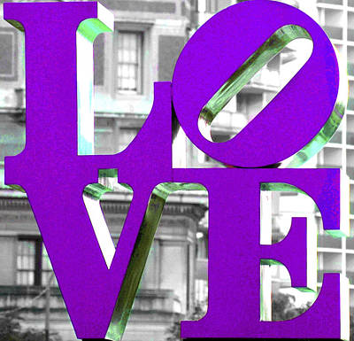 Photograph - Love Philadelphia Purple by Terry DeLuco