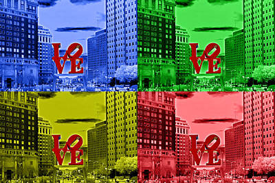 Photograph - Love Pop Art 1 by Lou Ford