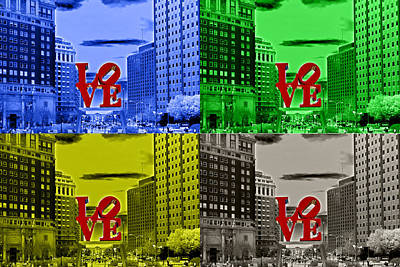 Photograph - Love Pop Art 2 by Lou Ford