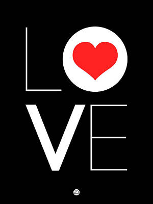 Red Heart Digital Art - Love  Poster 7 by Naxart Studio