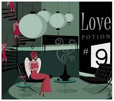 Love Potion No9 Art Print by Kate Paulos