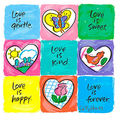 Thought Drawing - Love Quilt by Sally Huss