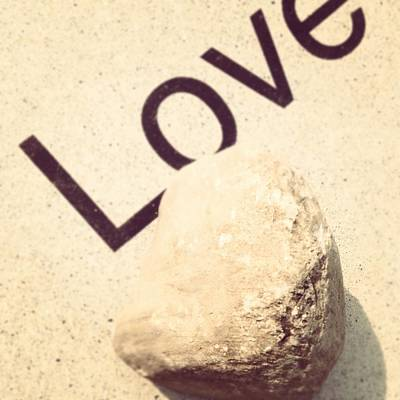Rock Photograph - Love Rocks by Christy Beckwith