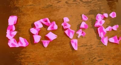 Gestures Mixed Media - Love Rose Petals Pop Art by Dan Sproul