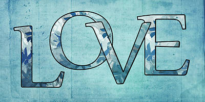 Blue Digital Art Digital Art - Love - S0102tb01 by Variance Collections