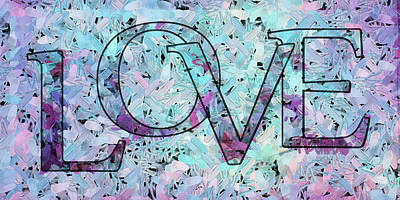 Mauve Digital Art - Love - S0401 by Variance Collections