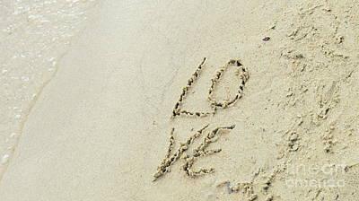 Photograph - Love Sand Beach 2 by France Laliberte