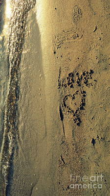 Photograph - Love Sand Beach 4 by France Laliberte