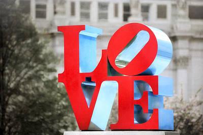 Photograph - Love Sculpture - Selective Color - Philadelphia by Photography  By Sai