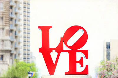 Photograph - Love Sculpture - John F Kennedy Plaza In Philadelphia - Downtown by Photography  By Sai