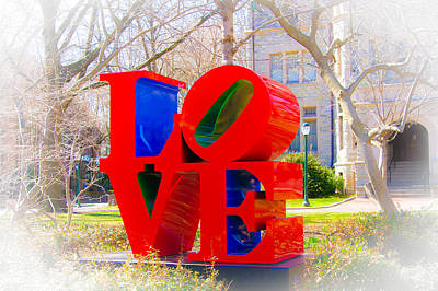 Love Sculpture - Penn Campus Art Print by Louis Dallara