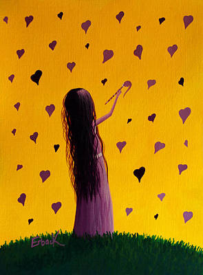 Vivid Colour Painting - Love by Shawna Erback