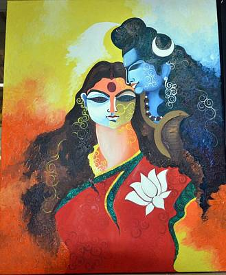 30 X 24 Painting - Love  by Sneha Banerjee