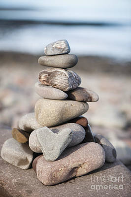 Heart Shaped Rock Photograph - Love Stack by Anne Gilbert