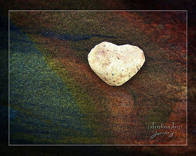 Photograph - Love Stone - Framed by Jamie Johnson