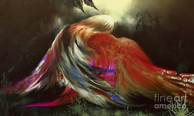 Alienation Digital Art - Love Story _ Hug Of Birds by Bouquet  Of arts