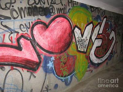 Love. Street Graffiti Art Print by Ausra Huntington nee Paulauskaite