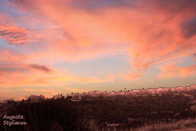 Love Sunset Art Print