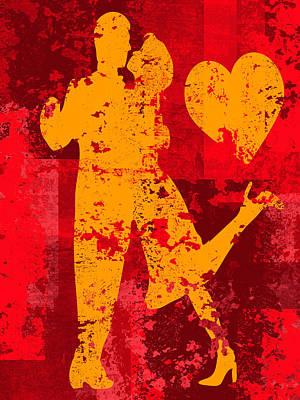 Abstract Hearts Digital Art - Love Tango by David G Paul