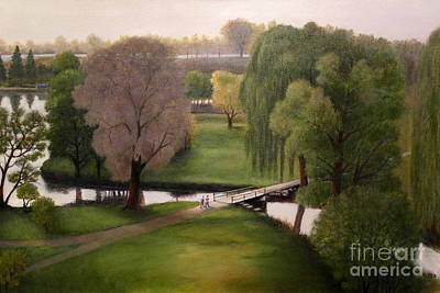 Painting - Love The Arboretum by Al Hunter