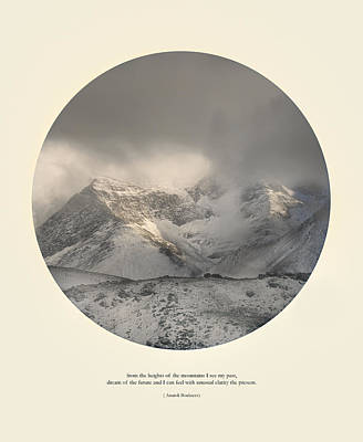 Love The Mountains... Art Print