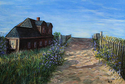 Cape Cod Painting - Love The Old Cottage by Rita Brown