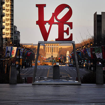 Benjamin Franklin Parkway Digital Art - Love The Parkway by Bill Cannon