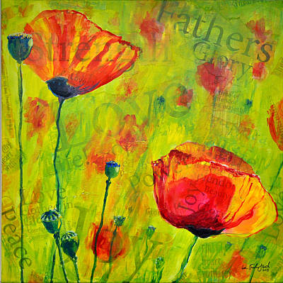 Painting - Love The Poppies by Lisa Fiedler Jaworski