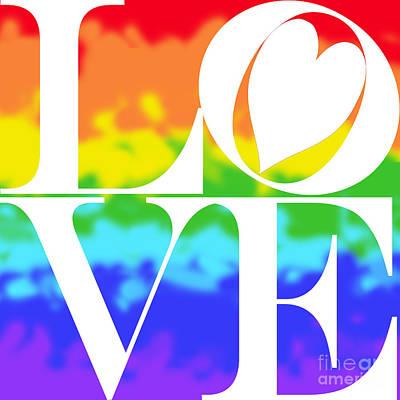 Love The Rainbow Print by Mariola Bitner