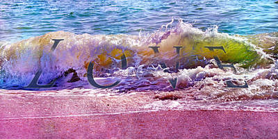 Scenery Mixed Media - Love The Wave by Betsy Knapp