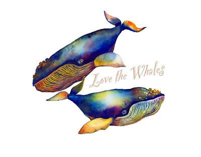 Love The Whales Art Print
