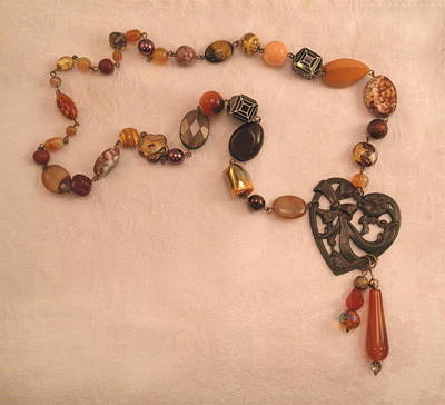 Jewelry - Love These Beads Heart Necklace by Outre Art  Natalie Eisen