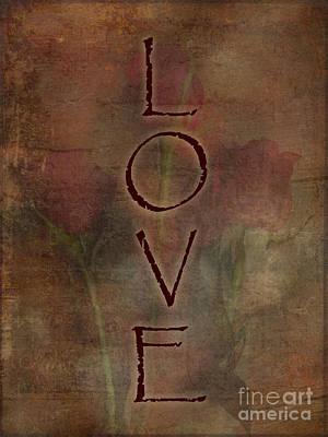 Be My Valentine Digital Art - Love Trio Of Roses Textured Design Love And Romance Series by Adri Turner