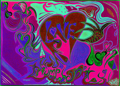 Love Triumphant 3of3 V2 Art Print by Kenneth James