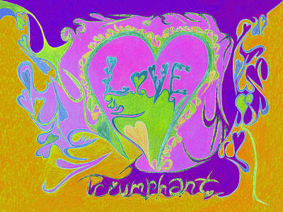 Love Triumphant V3 Art Print by Kenneth James