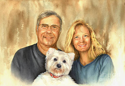 Painting - Love Us Love Our Dog by Nan Wright