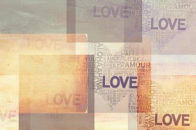 Love. Vintage. Creamy Pastel Art Print by Jenny Rainbow
